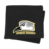 Black Sweatshirt Blanket-Athletic Logo