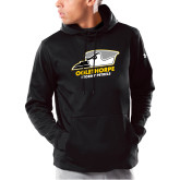 Under Armour Black Armour Fleece Hoodie-Primary Athletics Logo