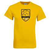 Gold T Shirt-Soccer Shield Design
