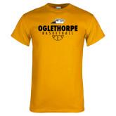 Gold T Shirt-Abstract Basketball