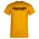 Gold T Shirt-Athletics Wordmark