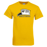 Gold T Shirt-Athletic Logo