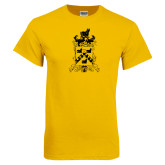 Gold T Shirt-Oglethorpe Crest Distressed