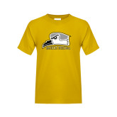 Youth Gold T Shirt-Athletic Logo