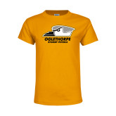 Youth Gold T Shirt-Primary Athletics Logo
