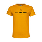 Youth Gold T Shirt-Primary University Logo