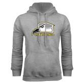 Grey Fleece Hoodie-Athletic Logo