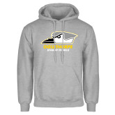 Grey Fleece Hoodie-Primary Athletics Logo