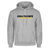 Grey Fleece Hoodie-Athletics Wordmark
