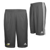 Adidas Climalite Charcoal Practice Short-Primary Athletics Logo