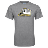 Grey T Shirt-Athletic Logo