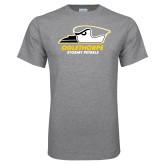 Grey T Shirt-Primary Athletics Logo