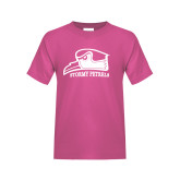 Youth Cyber Pink T Shirt-Athletic Logo