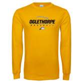 Gold Long Sleeve T Shirt-Baseball Design