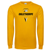 Gold Long Sleeve T Shirt-Lacrosse Design