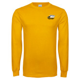 Gold Long Sleeve T Shirt-Primary Athletics Logo
