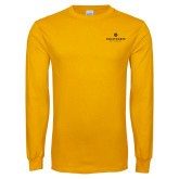 Gold Long Sleeve T Shirt-Primary University Logo