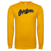 Gold Long Sleeve T Shirt-Oglethorpe Script