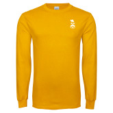 Gold Long Sleeve T Shirt-Crest