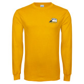 Gold Long Sleeve T Shirt-Athletic Logo