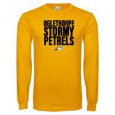 Gold Long Sleeve T Shirt-Oglethorpe Stormy Petrels