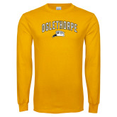 Gold Long Sleeve T Shirt-Arched Oglethorpe