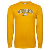 Gold Long Sleeve T Shirt-Arched Oglethorpe