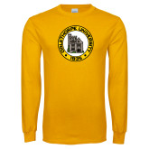 Gold Long Sleeve T Shirt-University Seal