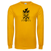 Gold Long Sleeve T Shirt-Oglethorpe Crest