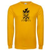Gold Long Sleeve T Shirt-Oglethorpe Crest
