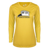 Ladies Syntrel Performance Gold Longsleeve Shirt-Athletic Logo