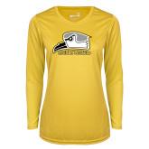 Ladies Syntrel Performance Gold Longsleeve Shirt-Athletic Logo