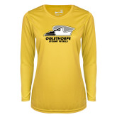 Ladies Syntrel Performance Gold Longsleeve Shirt-Primary Athletics Logo