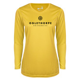 Ladies Syntrel Performance Gold Longsleeve Shirt-Primary University Logo