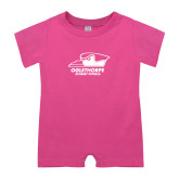 Bubble Gum Pink Infant Romper-Primary Athletics Logo
