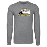Grey Long Sleeve T Shirt-Athletic Logo