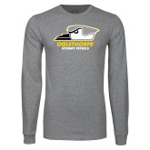 Grey Long Sleeve T Shirt-Primary Athletics Logo