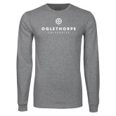 Grey Long Sleeve T Shirt-Primary University Logo