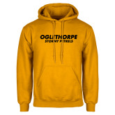 Gold Fleece Hoodie-Athletics Wordmark