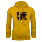 Gold Fleece Hoodie-Oglethorpe Stormy Petrels