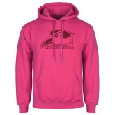 Fuchsia Fleece Hoodie-Official Logo Hot Pink Glitter
