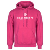 Fuchsia Fleece Hoodie-Primary University Logo