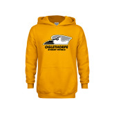 Youth Gold Fleece Hoodie-Primary Athletics Logo