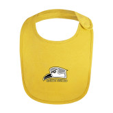 Yellow Baby Bib-Athletic Logo