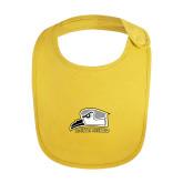 Yellow Baby Bib-Athletic Logo