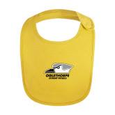 Yellow Baby Bib-Primary Athletics Logo