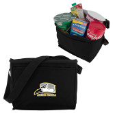 Six Pack Black Cooler-Athletic Logo