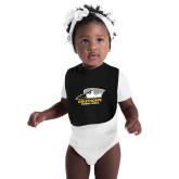 Black Baby Bib-Primary Athletics Logo