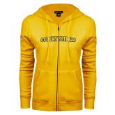 ENZA Ladies Gold Fleece Full Zip Hoodie-Stormy Petrels