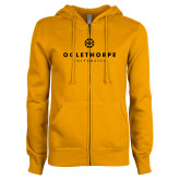 ENZA Ladies Gold Fleece Full Zip Hoodie-Primary University Logo